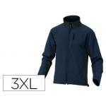 Chaqueta Deltaplus poliester con cremallera 3 bolsillos repelente al agua interior polar azul-negro talla 3xl