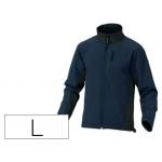 Chaqueta Deltaplus poliester con cremallera 3 bolsillos repelente al agua interior polar azul-negro talla l