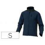 Chaqueta Deltaplus poliester con cremallera 3 bolsillos repelente al agua interior polar azul-negro talla s