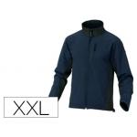 Chaqueta Deltaplus poliester con cremallera 3 bolsillos repelente al agua interior polar azul-negro talla xxl
