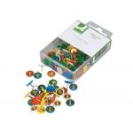 Chinchetas Q-connect colores surtidos caja de 120 unidades