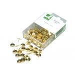 Chinchetas Q-connect doradas caja de 120 unidades