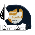 Cinta Dymo 12 mm para ropa maquina letratag