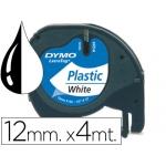 Cinta Dymo 12 mm x4 mt negro/blanco color perla para maquina letratag