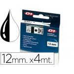 Cinta Dymo 12 mm x4 mt transparente para maquina letratag
