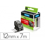 Cinta Dymo color negro blanco 12 mm x 7 mt d1 pack 2+1 sin cargo blanco-negro 12 mm x 7 mt d1