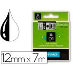 Cinta Dymo negro transparente 12 mm x7 mt d1