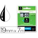 Cinta Dymo negro transparente 19 mm x 7 mt d1