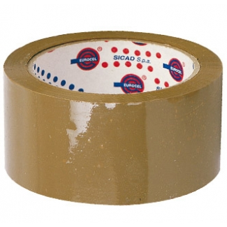 Eurocel 19403 - Cinta adhesiva para embalar, 50 mm x 66 mt, polipropileno, marrón