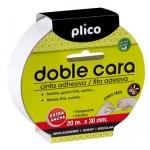 Cinta adhesiva Plico doble cara 30 mm x 20m