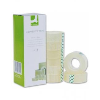Q-Connect KF27013 - Cinta adhesiva, 19 mm x 33 mt, transparente