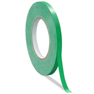 Q-Connect KF10855 - Cinta adhesiva para cerrar bolsas, 9 mm x 66 mt, verde