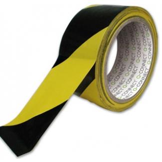 Q-Connect KF04383 - Cinta adhesiva para embalar, 48 mm x 20 mt, amarilla y negra