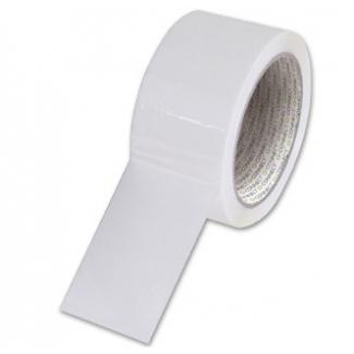 Q-Connect KF02901 - Cinta adhesiva para embalar, 50 mm x 66 mt, polipropileno, blanco