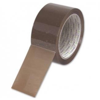 Q-Connect KF27010 - Cinta adhesiva para embalar, 50 mm x 66 mt, polipropileno, marrón