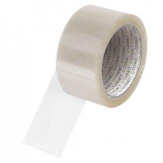 Q-Connect KF01791 - Cinta adhesiva para embalar, 50 mm x 66 mt, polipropileno, transparente