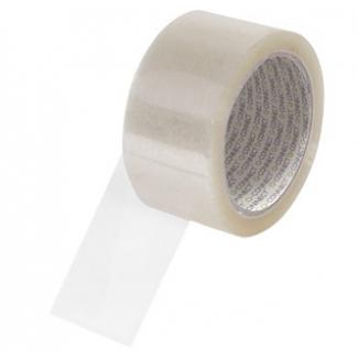 Q-Connect KF04382 - Cinta adhesiva para embalar, 50 mm x 66 mt, bajo ruido, polipropileno, transparente