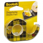 Cinta adhesiva Scotch 136-d dos caras 6,3 mt x 12 mm en portarrollo