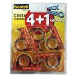 Cinta adhesiva Scotch 508 en miniportarrollo 4+1