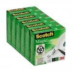 Cinta adhesiva Scotch magic 33x19 mm pack de 6 rollos