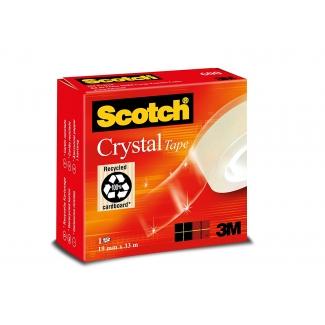 Scotch FT510030602 - Cinta adhesiva, 19 mm x 33 mt, supertransparente