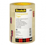 Cinta adhesiva Scotch transparente 12 mm x66 mt pack de 12