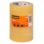 Cinta adhesiva Scotch transparente 19 mm x66 mt pack de 8
