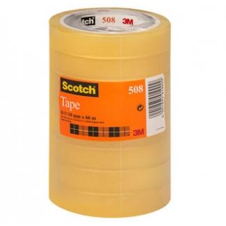 Scotch 508/1966 AE - Cinta adhesiva, 19 mm x 66 mt, transparente, pack de 8