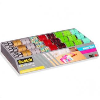 Cinta adhesiva Scotch washi tapes papel de arroz fantasía 15 mm x10 mt 9 modelos color surtidos