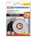 Cinta adhesiva Tesa doble cara ultra strong extrafuerte para interior y exterior 1,5m x19 mm