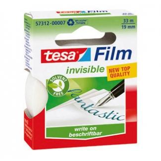Tesa 57312-00007-02 - Cinta adhesiva, ecologica, 19 mm x 33 mt, invisible