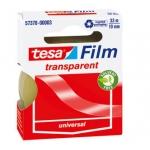 Cinta adhesiva Tesa film transparente 33 mt x19 mm