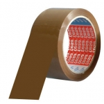 Cinta adhesiva Tesa pvc color marron 66 mt sx50 mm para embalaje