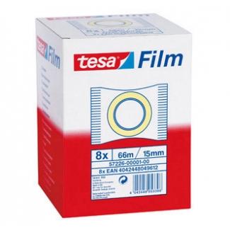 Tesa 57382-0001-00 - Cinta adhesiva, 15 mm x 66 mt, transparente