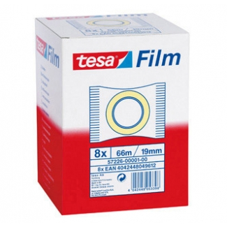 Tesa standard 57226-00001-00 - Cinta adhesiva, 19 mm x 66 mt, transparente
