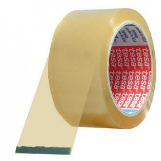 Tesa 04089-00042-06 - Cinta adhesiva para embalar, 50 mm x 132 mt, polipropileno, transparente