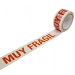 Liderpapel PRE10480661M - Cinta adhesiva para embalar con impresión, 48 mm x 66 mt, polipropileno, blanco, pack de 6