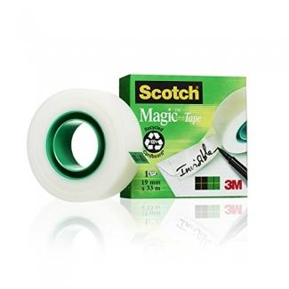Scotch Magic 810 - Cinta adhesiva, 19 mm x 33 mt, invisible