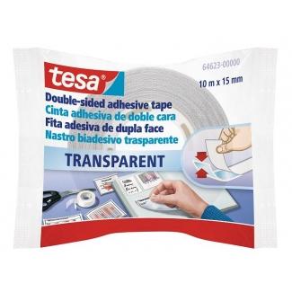 Tesa 64623-0000-00 - Cinta adhesiva, doble cara, 15 mm x 10 mt