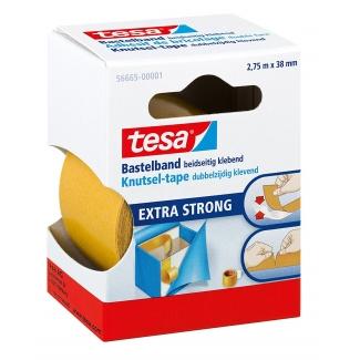 Tesa 56665-00002-00 - Cinta adhesiva doble cara, 38 mm x 2,75 mt, extrafuerte