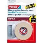 Tesa 55740-00002-00 - Cinta adhesiva doble cara, extrafuerte, para interior, 19 mm x 1,5 mt