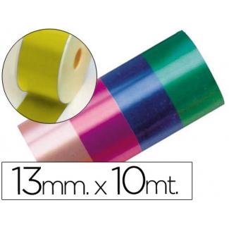 Liderpapel 2412-15 - Cinta fantasía, color oro, 10 mt x 13 mm