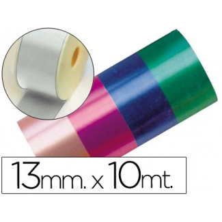 Liderpapel 2412-05 - Cinta fantasía, color plata, 10 mt x 13 mm