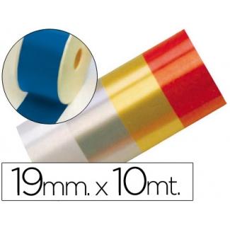 Liderpapel 2412-35 - Cinta fantasía, color azul, 10 mt x 19 mm