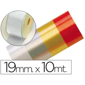 Liderpapel 2412-01 - Cinta fantasía, color blanco, 10 mt x 19 mm