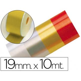 Liderpapel 2412-15 - Cinta fantasía, color oro, 10 mt x 19 mm