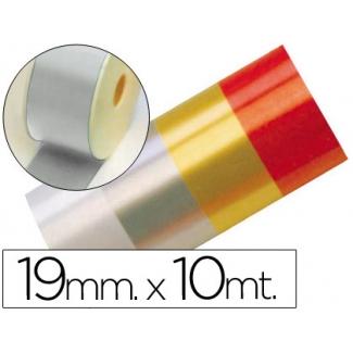 Liderpapel 2412-05 - Cinta fantasía, color plata, 10 mt x 19 mm
