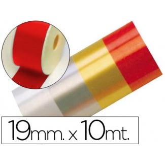Liderpapel 2412-20 - Cinta fantasía, color rojo, 10 mt x 19 mm