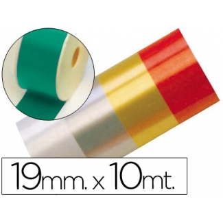 Liderpapel 2412-50 - Cinta fantasía, color verde, 10 mt x 19 mm