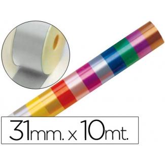 Liderpapel 2410-05 - Cinta fantasía, color plata, 10 mt x 31 mm